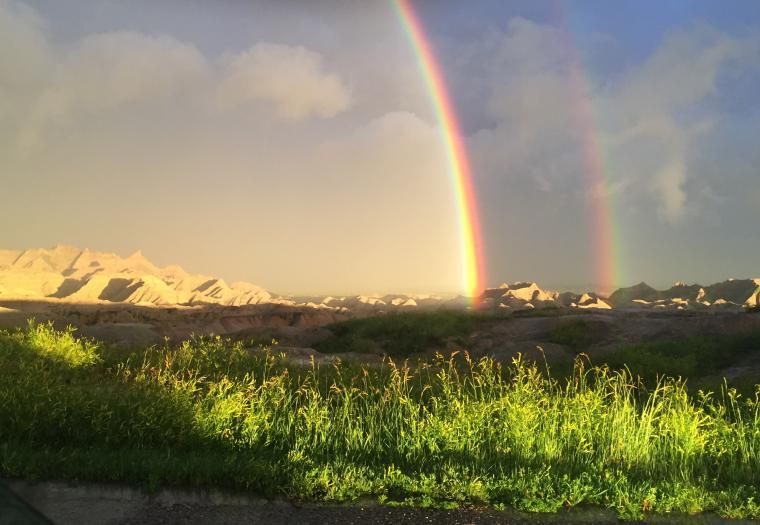 Badlands Rainbow After Storm