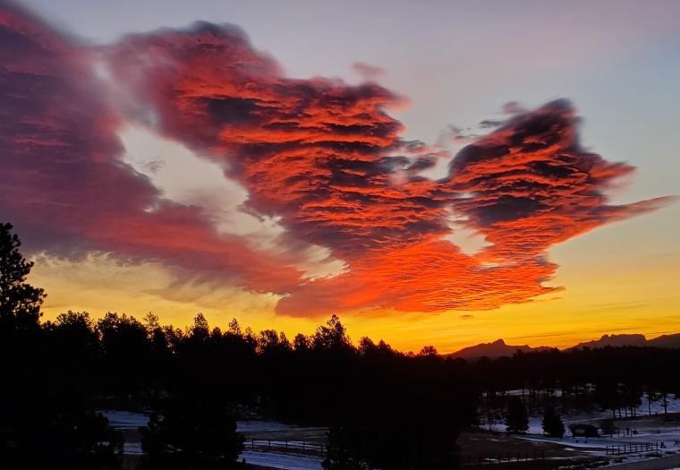 Beautiful Black Hills Morning - Red Cloud Delight
