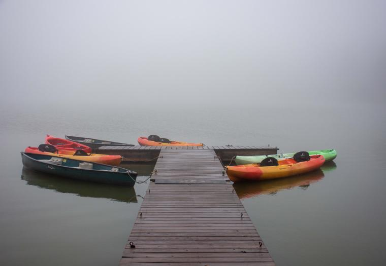 Foggy Day On Sylvan Lake