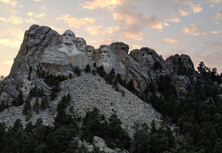 Mt. Rushmore Just at Sunset