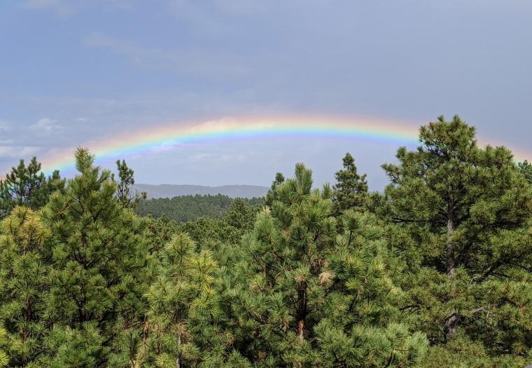 Rainbow over the hills