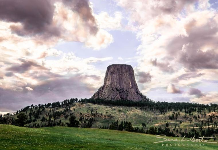 Heart above Devils Tower