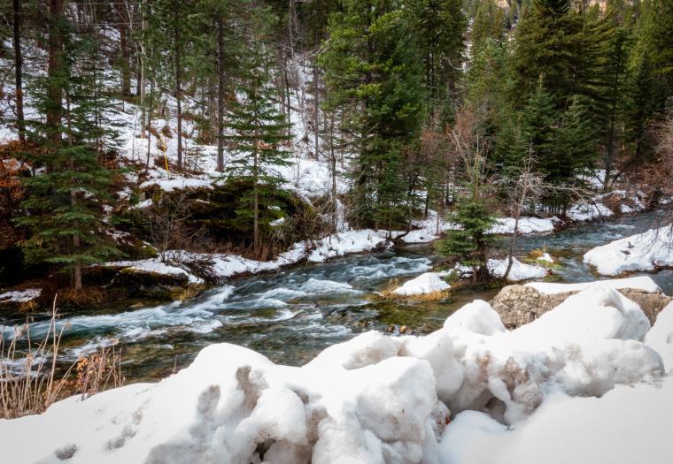 Wintry Refreshing Spearfish Creek